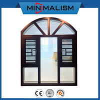 108 Series Thermal Break Garage Door Accessories Aluminium Casement Window