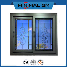 Aluminium Window Manufacturer Sliding Windows with Security Metal Bars