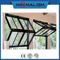 Aluminium Fold up Window with Double Toughened Glass Aluminum Profile