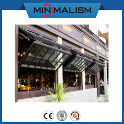 Folding Window Fold up/Down with Double Insulating Glass for Commercial