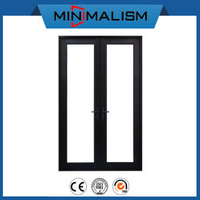 Black Aluminum Casement Door with Hopo Hardware for Shipping Mall