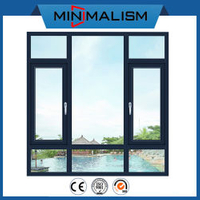 Aluminium Casement Window with Double Swing for House Residential