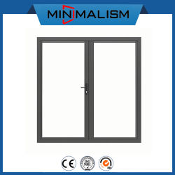 Building Material Aluminium French Door Double Swing with Low-E Glazed