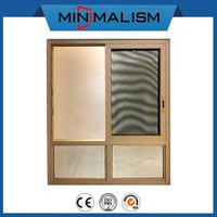 138 Series Aluminum Sliding Window with Stainless Mosquito Mesh