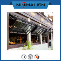 Aluminium Folding Window with Double Laminated Glass for Cafe Shop