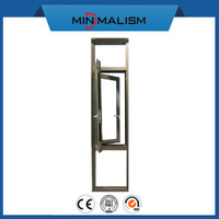 Aluminium Profile Metal Window Casement/Swing Exterior Clear Tempered Glass