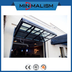 Black Aluminum Folding Window for Cafe Shop